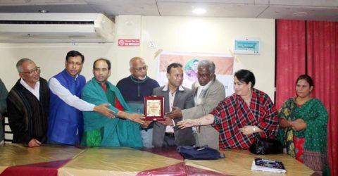 কবি তপন মজুমদারের বিদায় সম্বর্ধনায় সাহিত্য সংগঠন 'কবি কন্ঠ'র আত্মপ্রকাশ