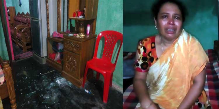 নগরীর কালীবাড়ি হাওলাদাড়পাড়ায় একটি বাড়িতে হামলা ও ভাংচুর করেছে দুবৃর্ত্তরা