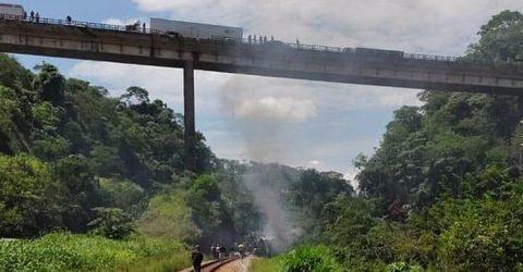 ব্রাজিলে সেতু থেকে বাস পড়ে ১৭ জন নিহত