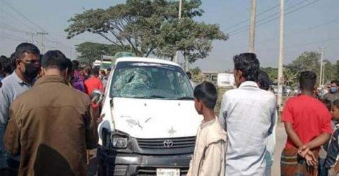 শায়েস্তাগঞ্জে মাইক্রোবাসচাপায় নিহত মোটরসাইকেলচালক