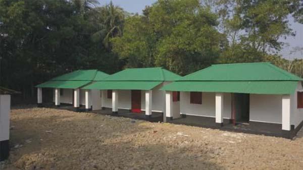 কুলাউড়ায় গৃহহীনদের ১১০টি ঘরের কাজ সম্পন্ন