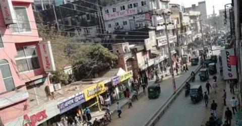 রিকশাবিহীন 'যানজটমুক্ত' বন্দর-জিন্দাবাজার-চৌহাট্টা সড়ক