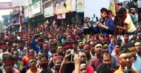 উত্তাল কমলগঞ্জ: অটোরিকশা চালকের হত্যাকারীদের গ্রেফতারের দাবি