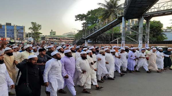 ঢাকায় মুসল্লিদের বিক্ষোভে পুলিশি হামলা, সিলেটে জমিয়তের প্রতিবাদ মিছিল