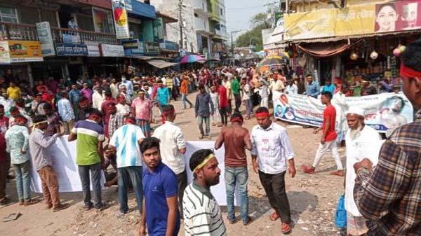 অটোরিকশাচালক হত্যা : কমলগঞ্জে সড়ক অবরোধ