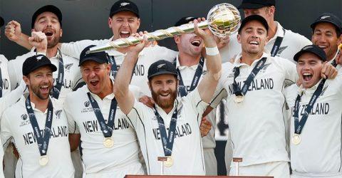 ভারতকে হারিয়ে টেস্টে বিশ্ব চ্যাম্পিয়ন নিউজিল্যান্ড