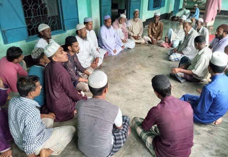 """কানাইঘাট প্রেসক্লাব সভাপতি বুলবুল""""র সুস্থতা কামনায় দোয়া মাহফিল অনুষ্ঠিত"""